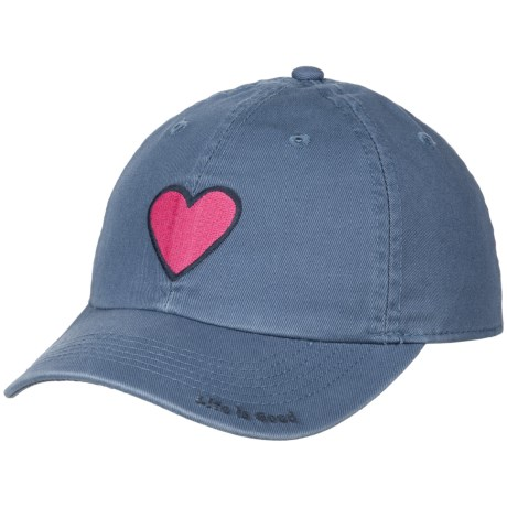 Life is good® Heart Chill Baseball Cap (For Kids) in Vintage Blue