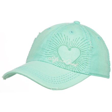 1ceaf54910808 Life is good® Heart Radiate Sunwashed Chill Baseball Cap (For Women) in Cool