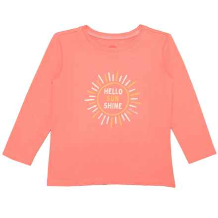 Life is good® Hello Sunshine Crusher T-Shirt - Long Sleeve (For Toddlers) in Fresh Coral - Closeouts