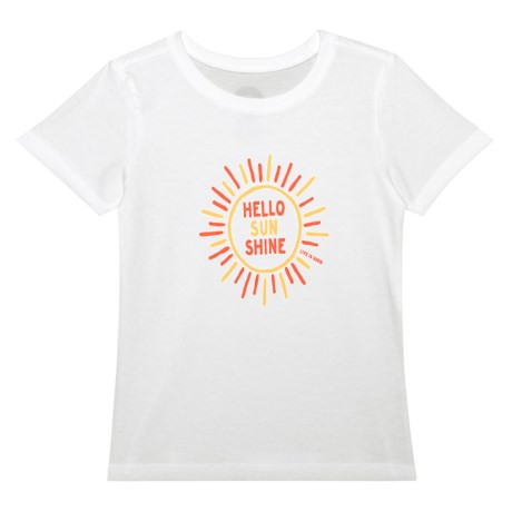Life is good® Hello Sunshine Crusher T-Shirt - Short Sleeve (For Toddlers) in Cloud White