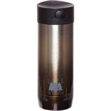 Life is good® Hot and Cold Steel Tumbler - 12 fl.oz. in Java Brown - Closeouts