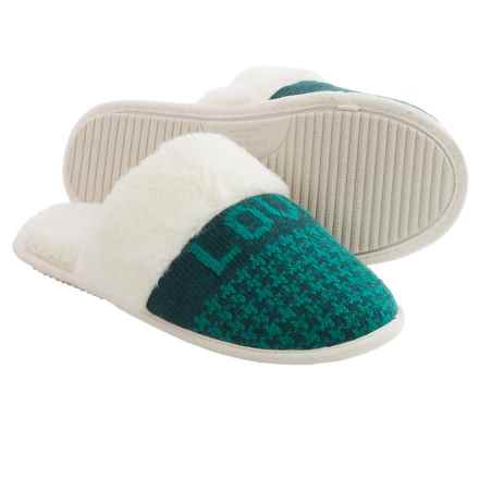 Life is good® Houndstooth Scuff Slippers (For Women) in Love Today Pacific Blue - Closeouts