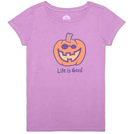 Life is good® Jack O'Lantern Crusher T-Shirt - Short Sleeve (For Little and Big Girls) in Dusty Orchid - Closeouts