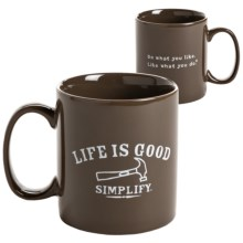 Life is good® Jake's™ Mug in Simplify Nutty Brown - Closeouts