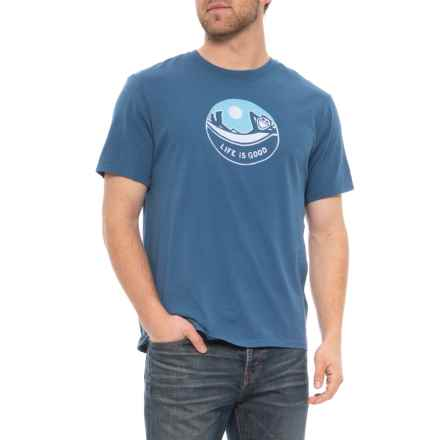 b84c032f6ac2 Life is good® Jake Hammock Circle Smooth T-Shirt - Short Sleeve (For