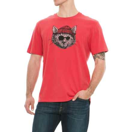 Life is good® Knit Hat Cat Crusher T-Shirt - Short Sleeve (For Men) in Americana Red - Closeouts