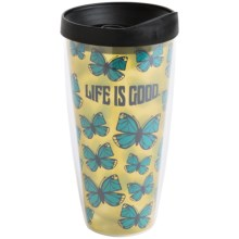 Life is good® Large Hot-and-Cold Tumbler - BPA-Free, 22 fl.oz. in Butterfly Canary Yellow - Closeouts