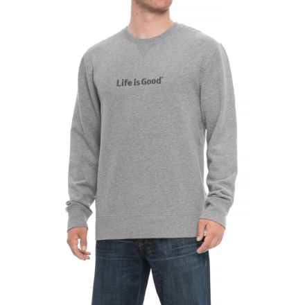 Life is good® LIG Bold Go-To Sweatshirt - Crew Neck (For Men) in Heather Gray - Closeouts