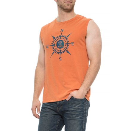 98143dd5b3f3a4 Life is good® LIG Compass Smooth Muscle Tank Top (For Men) in Sandy