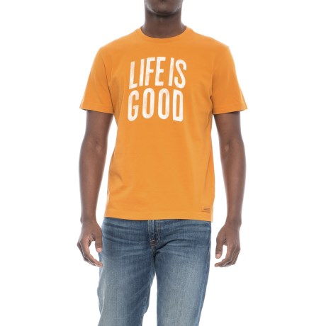 Life is good® Lig Stacked Arch Crusher T-Shirt - Short Sleeve (For Men) in Artisan Gold
