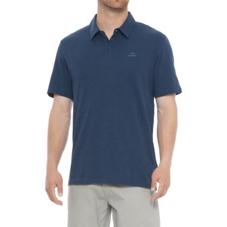 Life is good® LIG Wordmark Polo Shirt - Short Sleeve (For Men) in Darkest Blue