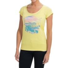 Life is good® Lightweight Crusher T-Shirt - Short Sleeve (For Women) in Lemony Yellow Summer Lovin - Closeouts