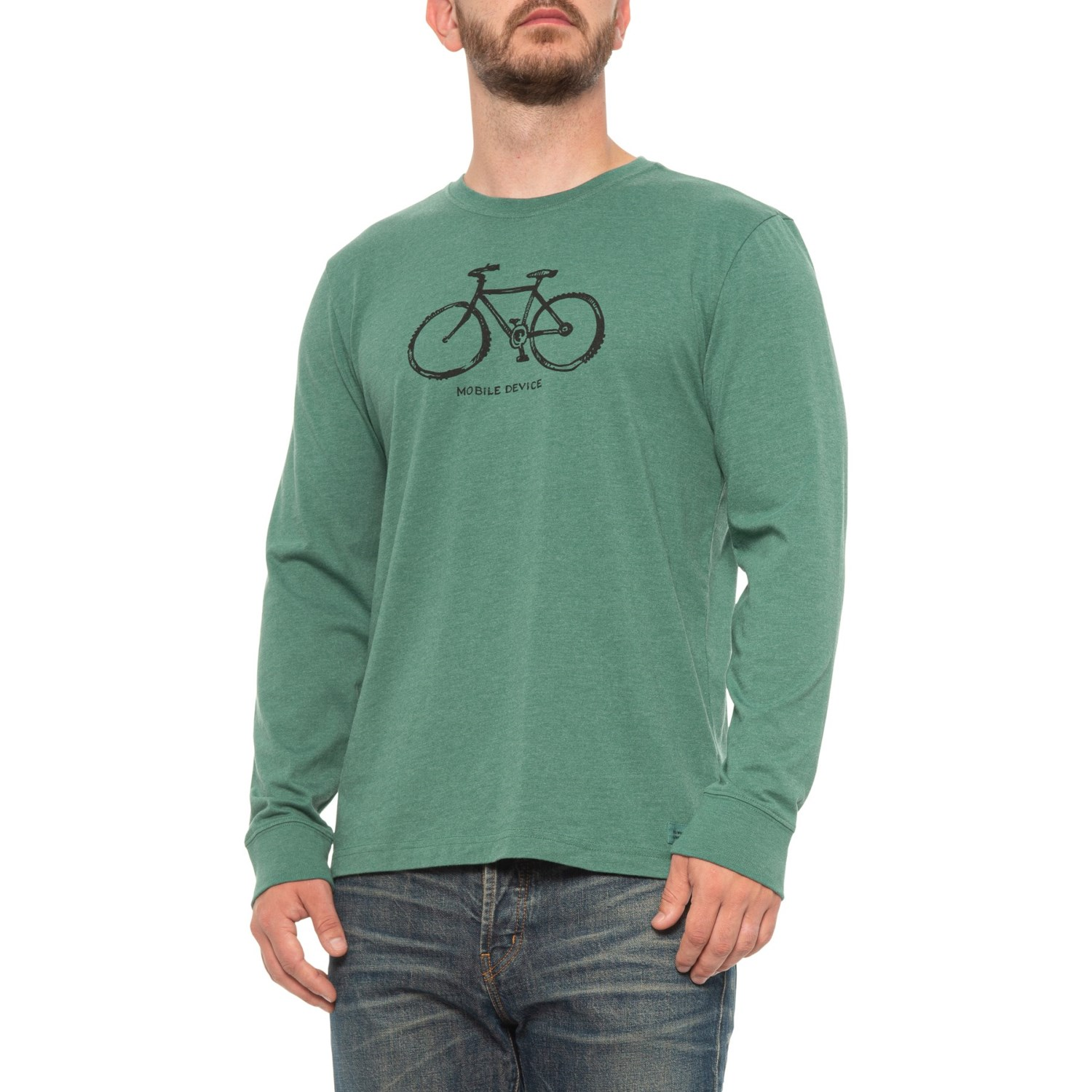 Life is good® Mobile Device Bike Crusher T-Shirt (For Men