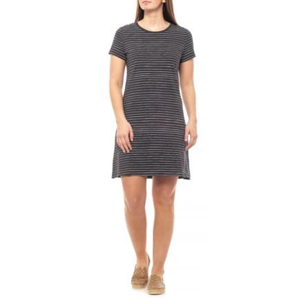 200872dbcc82 Life is good® Night Black Line Pattern Smooth T-Shirt Dress - Short Sleeve