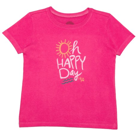 Life is good® Oh Happy Day Crusher T-Shirt - Short Sleeve (For Toddlers) in Pop Pink