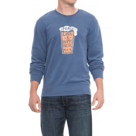 Life is good® Peace Love Hoppiness Go-To Sweatshirt (For Men) in Vintage Blue - Closeouts