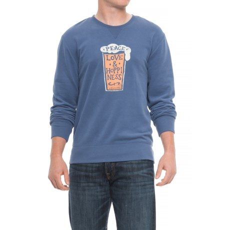 Life is good® Peace Love Hoppiness Go-To Sweatshirt (For Men) in Vintage Blue