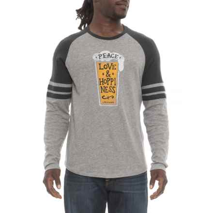 Life is good® Peace Love Hoppy Vintage Sport T-Shirt - Long Sleeve (For Men) in Heather Gray - Closeouts