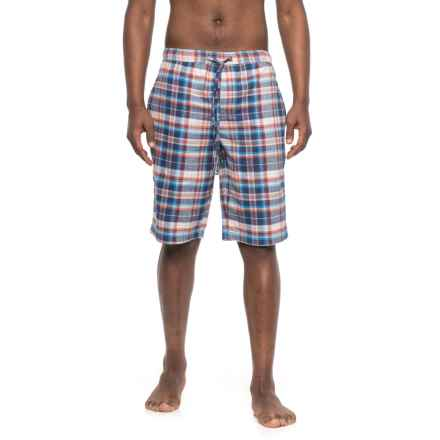 Life is good® Plaid Sleep Shorts (For Men) in Blue Plaid - Closeouts
