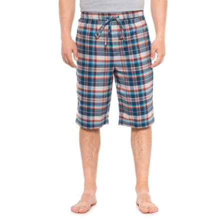 Life is good® Plaid Sleep Shorts (For Men) in Darkest Blue - Closeouts