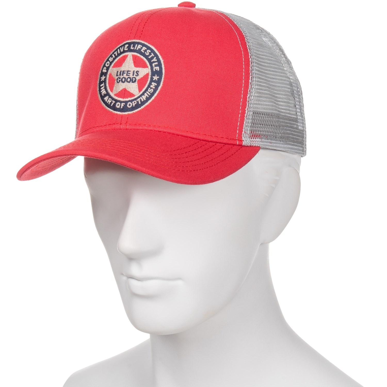 7fb9e1468c9 Life is good® Positive Lifestyle Mesh Back Baseball Cap (For Men ...