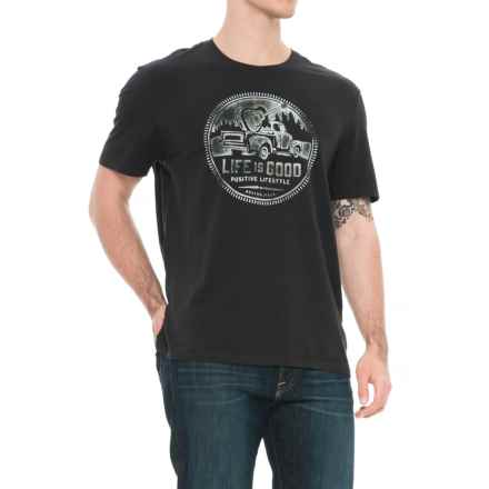 Life is good® Positive Lifestyle Smooth T-Shirt - Short Sleeve (For Men) in Night Black Fr Terry - Closeouts