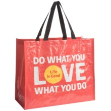Life Is Good® Recycled Shopper Tote Bag - Small in Do What You Love - Closeouts