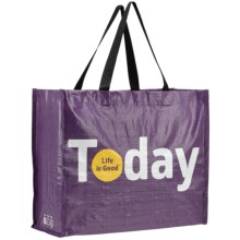 Life Is Good® Recycled Shopper Tote Bag - Small in Today - Closeouts