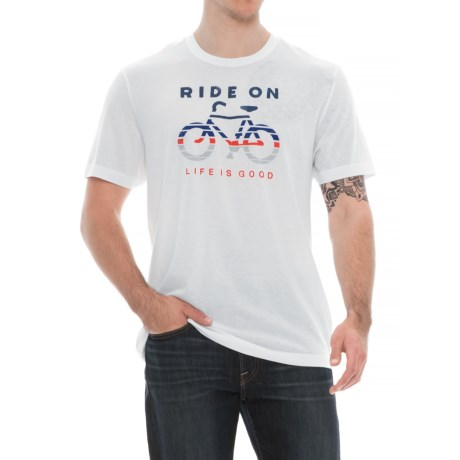 Life is good® Ride On Bike Shirt - Short Sleeve (For Men) in Cold White