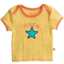 Life is good® Ringer™ T-Shirt - Short Sleeve (For Infants) in Rock Star Sunny Yellow - Closeouts