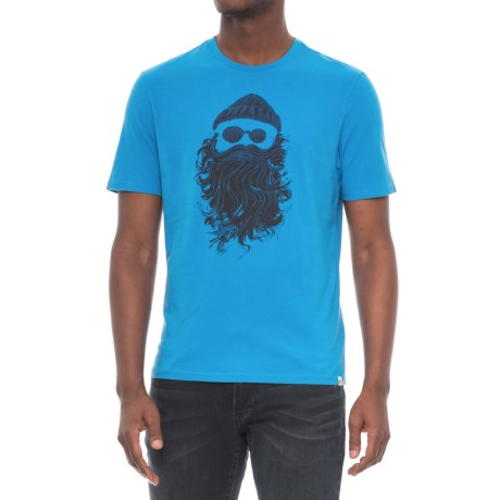 Life is good® Salty Beard Smooth T-Shirt - Short Sleeve (For Men) in Marina Blue