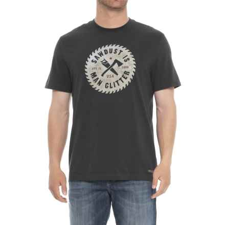 Life is good® Sawdust Glitter Crusher T-Shirt - Short Sleeve (For Men) in Night Black - Closeouts