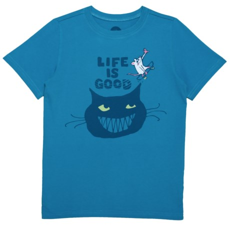 Life is good® Skateboard Mouse Crusher T-Shirt - Short Sleeve (For Little and Big Boys) in Marina Blue