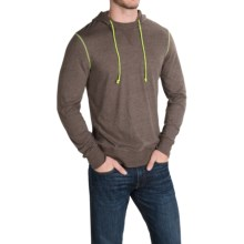 Life is good® Sport Hoodie T-Shirt - Slim Fit, Long Sleeve (For Men) in Dark Brown - Closeouts
