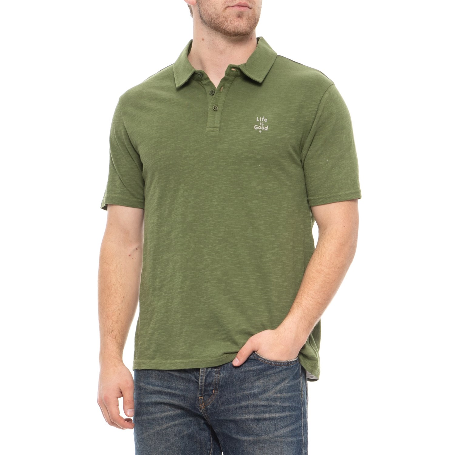 Life is good® Stacked Polo Shirt - Short Sleeve (For Men)