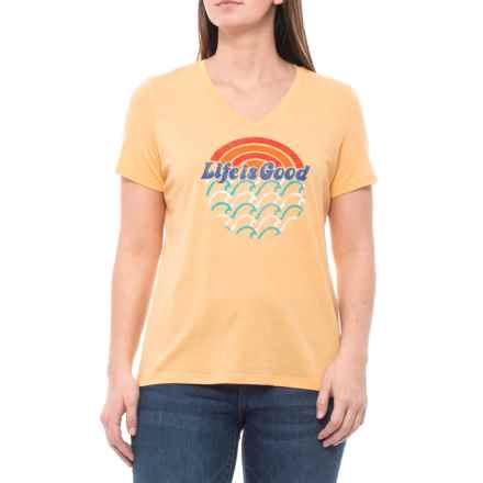 a96cc651c7ef Life is good® Sun and Waves Blended T-Shirt - Short Sleeve (For