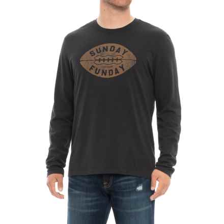 Life is good® Sunday Funday Smooth Shirt - Long Sleeve (For Men) in Night Black - Closeouts