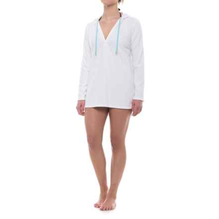 Life is good® Sunset Terry Beach Cover-Up - Cotton Blend, Long Sleeve (For Women) in Cloud White - Closeouts