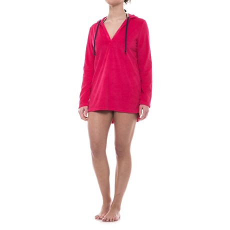Life is good® Take Me to the Ocean Beach Cover-Up - Cotton Blend, Long Sleeve (For Women) in Pop Pink