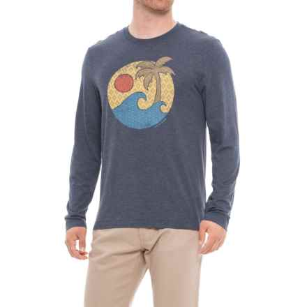 Life is good® Wave Palm Pattern Cool T-Shirt - Long Sleeve (For Men) in Darkest Blue - Closeouts