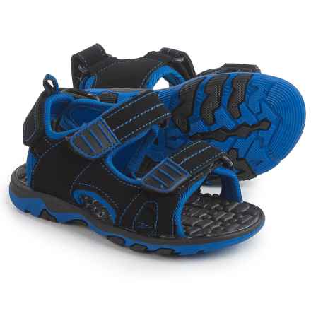 Lifeguard Sport Sandals (For Toddler Boys) in Black/Blue - Closeouts