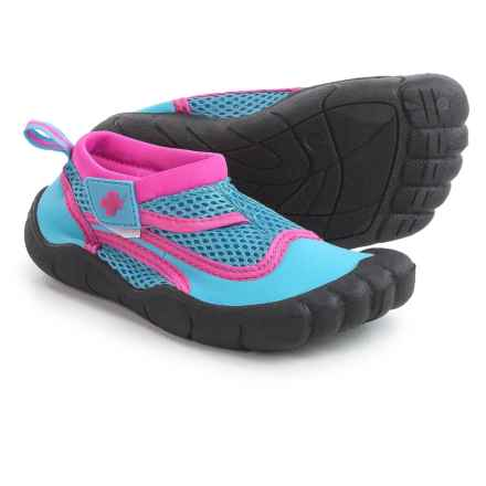 Lifeguard Synthetic Water Shoes - Waterproof (For Little and Big Girls) in Blue/Pink - Closeouts