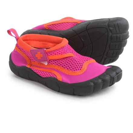 Lifeguard Water Shoes - Waterproof (For Little and Big Girls) in Pink/Orange - Closeouts