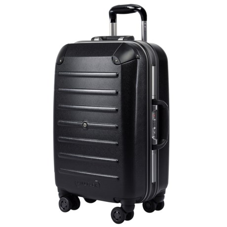 """LIFEPACK 21"""" Closet Carry-On Suitcase - Spinner in Black"""