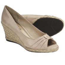 LifeStride Rixy Espradille Slip-On Shoes - Peep Toe (For Women) in Beige - Closeouts