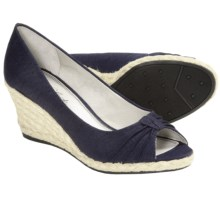 LifeStride Rixy Espradille Slip-On Shoes - Peep Toe (For Women) in Navy - Closeouts