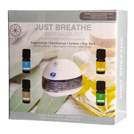 Lifestyle Products Aroma Essence Just Breathe Essential Oil and Diffuser Set in See Photo - Closeouts