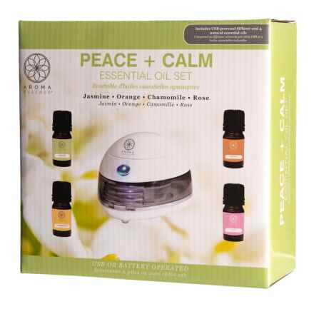 Lifestyle Products Aroma Essence Peace + Calm Essential Oil and Diffuser Set in See Photo - Closeouts