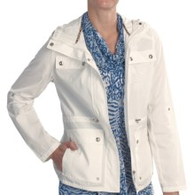 Lightweight Anorak Jacket - Hooded (For Women) in White - Closeouts