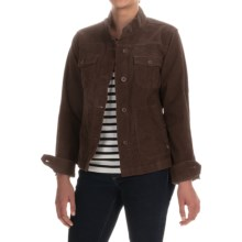 Lightweight Corduroy Jacket (For Women) in Brown - 2nds